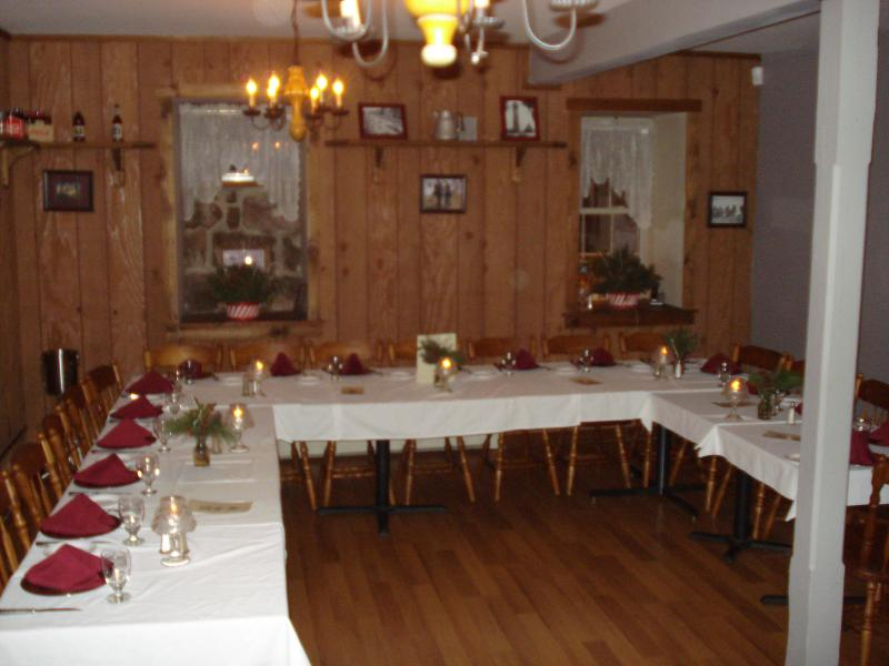 Christines Creekside Inn Banquet Menu